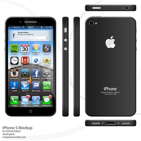 iphone 6 ios beautiful iphone 6 concept with ios 6 4 inch screen image