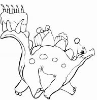 HD Wallpapers Happy Birthday Dinosaur Coloring Page