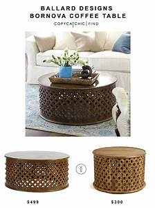 ballard designs bornova coffee table copy cat chic With tribal carved coffee table