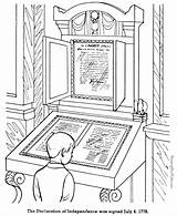 Coloring Pages Independence Declaration History American Patriotic Raisingourkids Kid Symbols Printing Help Print July Easy sketch template