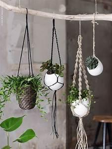 Suspension Pour Plante : id e suspensions en macram pour les plantes vertes en ~ Premium-room.com Idées de Décoration