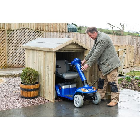Mobility Scooter Storage Shed object moved