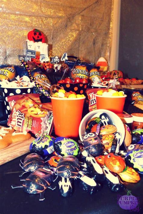 halloween dessert candy buffet