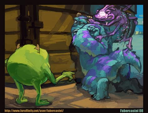 rule 34 disney fabercastel male male only mike wazowski monsters inc pixar randall sulley 292413