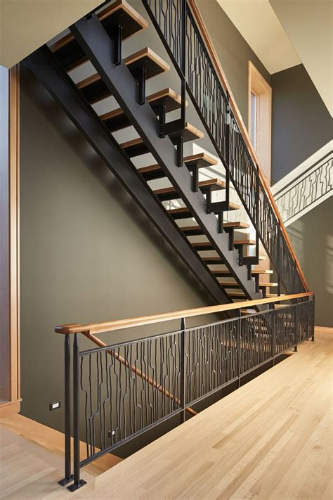 Steel Banister by 17 Best Ideas About Wood Stair Railings On