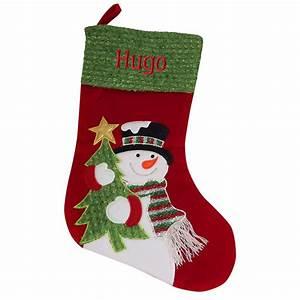 Chaussette De Noel Personnalisée : chaussette de no l bonhomme de neige une id e de cadeau ~ Melissatoandfro.com Idées de Décoration