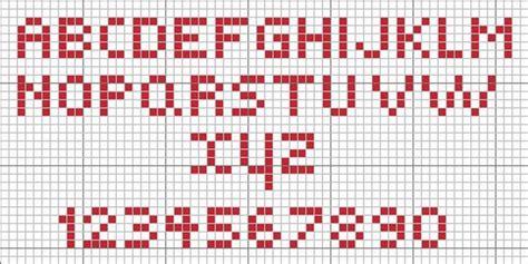 lettere dell alfabeto a punto croce schema punto croce alfabeto facile piccolo