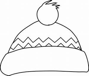 Winter Hat Outline Clip Art At Vector Clip Art