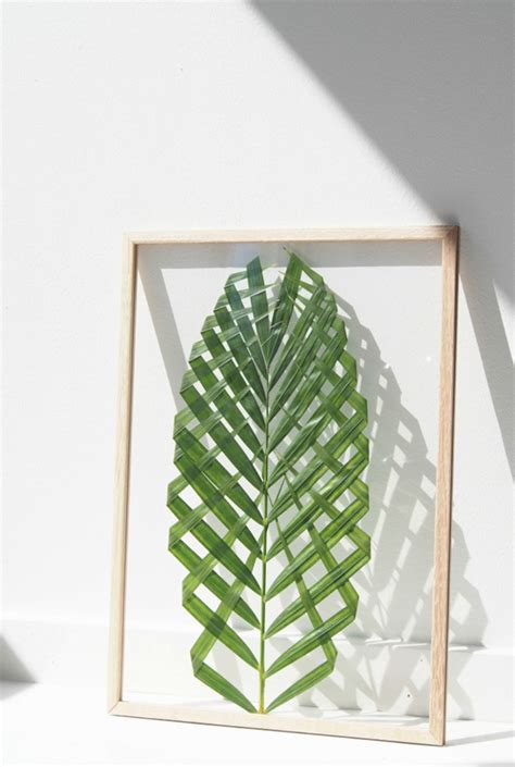 bathroom colors and ideas summer diy project framed palm leaf the style files