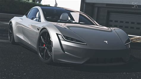 Tesla Car : Tesla Roadster 2020 [add-on / Replace / Auto Spoiler