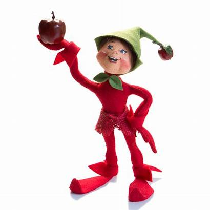 Elf Annalee Dolls Apple Figurines