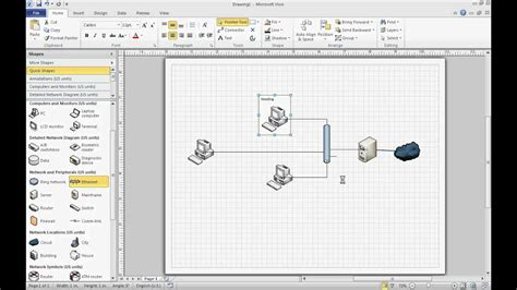 Network Diagram Template Visio by Microsoft Visio 2010 Basic Network Diagram