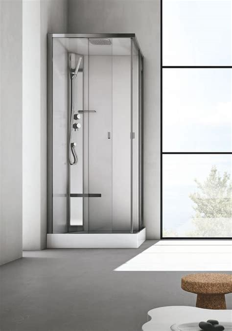 box doccia  seduta  cristallo  bagno moderno