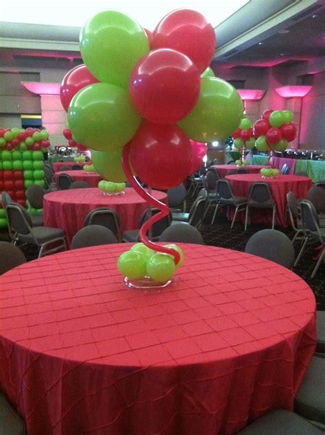 pink  green balloon cluster centerpiece balloon