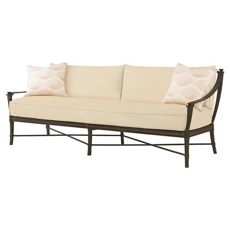 Metal Outdoor Loveseat by Modern Sailcloth Sand Metal Outdoor Sofa
