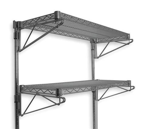 Wire Wall Shelf by Wall Mount 2 Tier Adjustable Steel Metal Wire Commercial