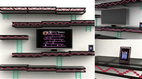 Always Be Gaming A Stylish Donkey Kong Inspired Shelving