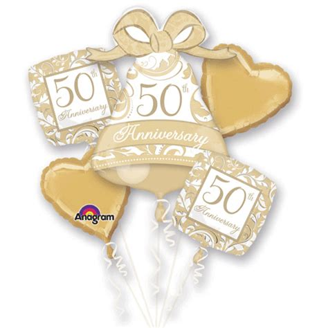 wedding anniversary balloon bouquet golden wedding