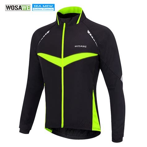 waterproof winter cycling jacket wosawe 2017 winter cycling jacket warm up bicycle clothing
