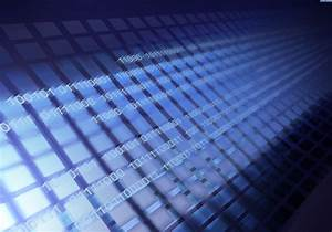 Blue Binary Code Wallpaper