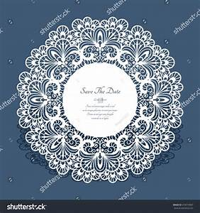 round cutout paper frame laser cut stock vector 478314967 With round laser cut wedding invitations