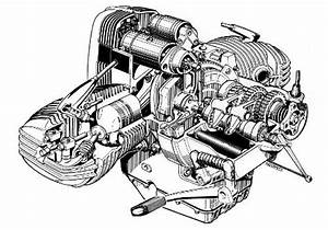 Zeichnung Piktogramm Boxer Motor