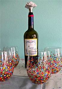 Christmas Wine Glasses on Pinterest