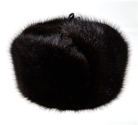 real muskrat fur russian ushanka hat