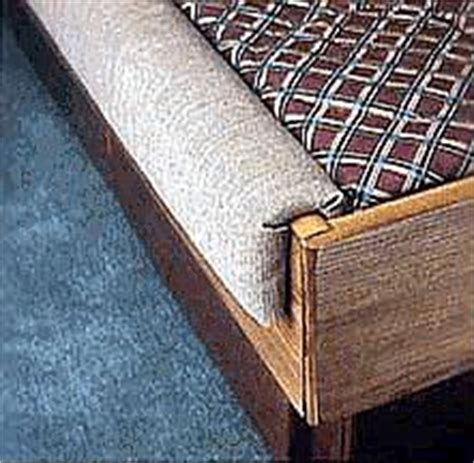 pc jumbo waterbed padded rails fabric