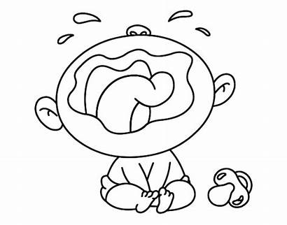 Coloring Crying Pages Sheet Cry Babies Coloriage