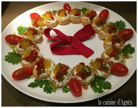 la cuisine d agnes couronne apéritive de noël blogs de cuisine