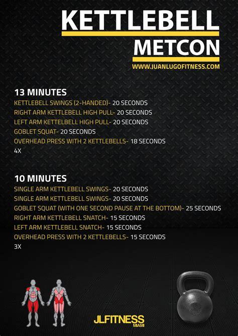 kettlebell metcon workouts workout crossfit wod training emom cardio metcons minute jlfitnessmiami circuit exercises hiit beginner challenge met con fitness
