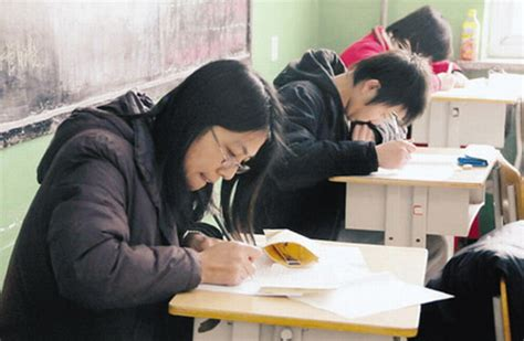 chinese teachers sit exams  students
