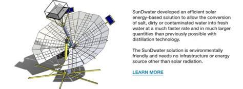 sundwater solar mirrors focuses  sun   dirty