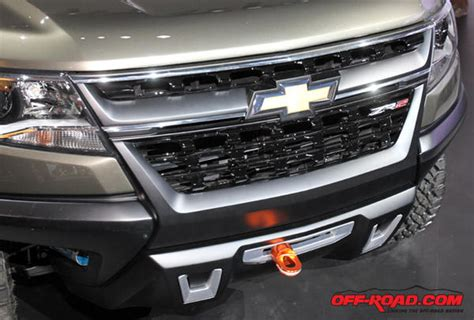 unveil grille winch chevrolet zr colorado concept la auto