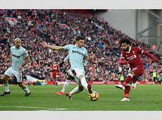 Liverpool 4 West Ham 1 Hosts up to second after Mo Salah
