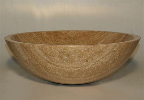 Silkroad Exclusive Travertine Stone Vessel Sink Bowl