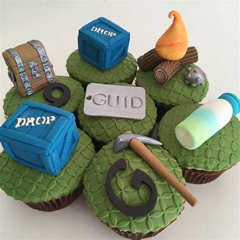 assorted fortnite cupcake decorations supply drop chest