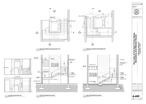 complete house plans stair plan monk elevator second level jizhen building