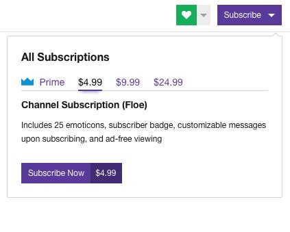 subscription options   beta    channel