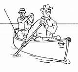 Canoe Coloring Canoeing Drawings Designlooter Fishing Side 39kb 853px Outfitters sketch template