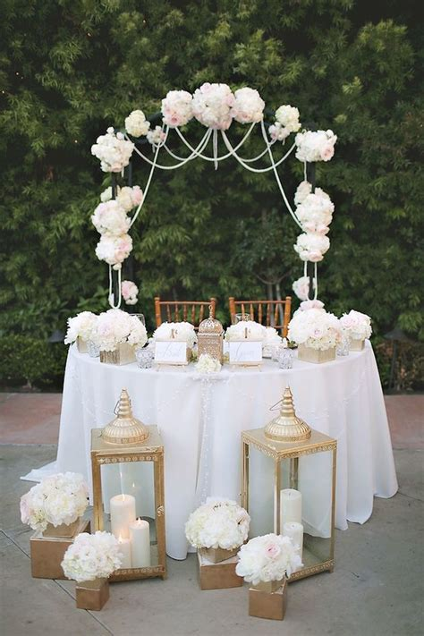 Sweetheart Table Inspiration Sweetheart Table Decor