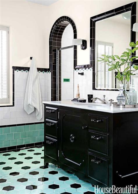 1930s Bathroom Design by Bathroom With Colorful Tile 1930s Bathroom Design