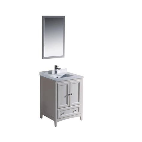 home depot bathroom vanities 24 inch fresca oxford 24 inch w vanity in antique white finish