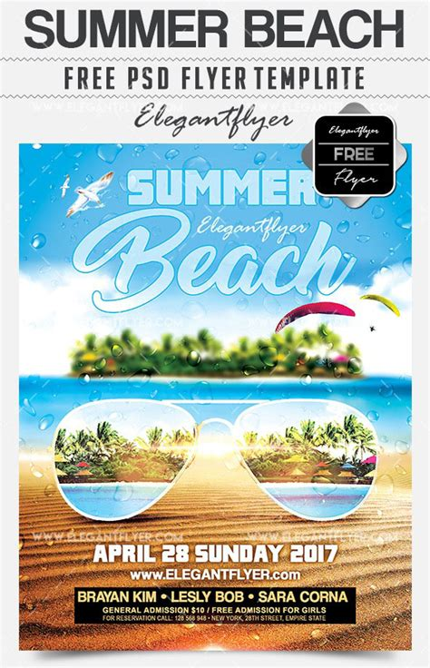 20 free psd modern stylish summer flyer templates for designers free psd templates