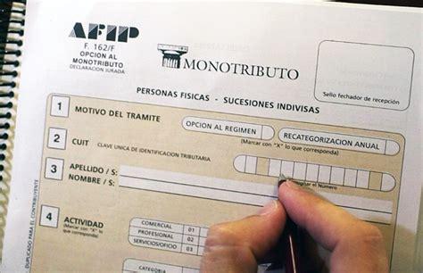 Photocopy of the last 6 payments of the monotax. Monotributo: estiman que en enero la facturación tope y los aportes subirán un 28,4% | CHACO DÍA ...