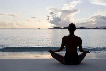 Yoga Meditation Sea Desktop Wallpapers Backgrounds Screen