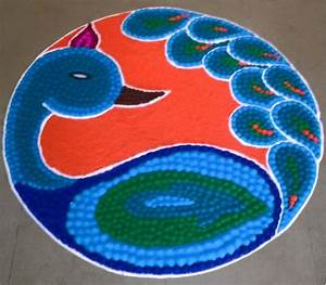 Peacock Rangoli Designs for Diwali | Projects to Try ...