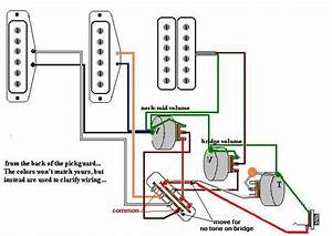 2 Humbucker Volume 1 Tone Wiring Diagrams  2  Wiring
