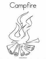 Coloring Campfire Ll sketch template
